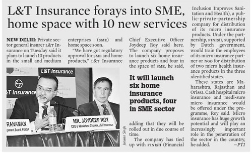 L&T Insurance forays into SME in partnership with FINISH