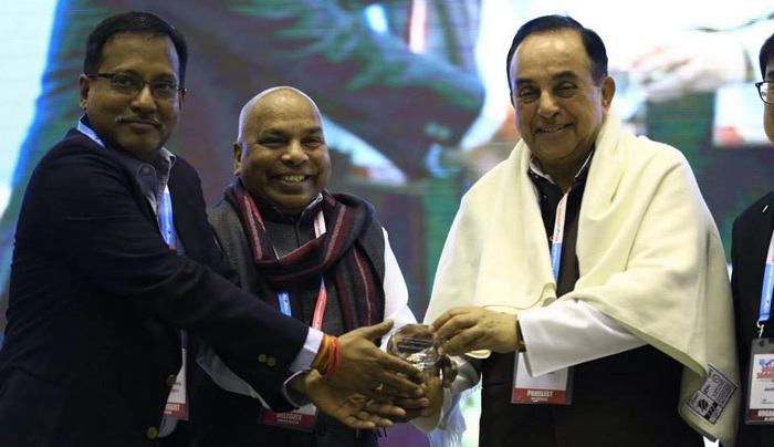 "FINISH Society receives ""Hall of Fame"" award at World Toilet Summit in New Delhi"